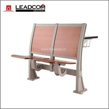 Leadcom aluminum stanchion school lecture desk & chair LS-919M