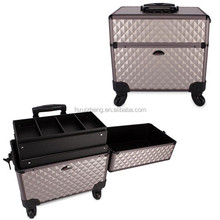 Traveling suitcase aluminum make up trolley case RZ-LTR009-3