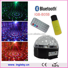 RGB remote controlled disco led lighting with bluetooth player