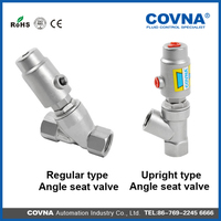 2 way bsp thread y type ss 304 pneumatic angle seat valve