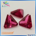 5 * 5 triângulo preços corte de canto rubi bruto Natural rubi por atacado