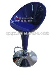 Modern shining blue acrylic bar stool