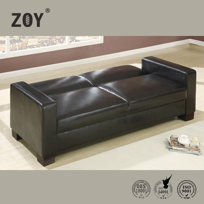 Cheap Modern Style Synthetic Leather Sofa Bed Design For Office Or Home Trund