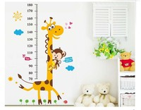 OEM removable easy to paste wall stickes child measuring stick