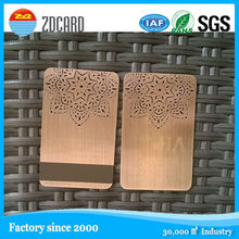 Engrave&cut through and electroplated color thin metal credit card cover