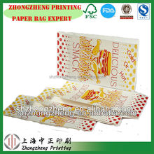 snack food packaging bag for hot food, fired chicken, hot dogs