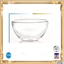 Double wall heat resistant glass bowl,salad bowl,150ml glass fruit bowl
