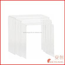 clear acrylic side tables