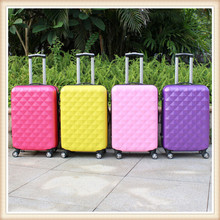Hottest sale aluminum frame abs+pc trolley luggage suitcase with wheels