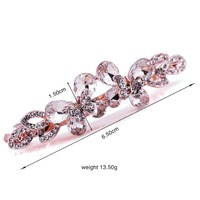 over stock hair accessory hair Bobby Pin claw From Korea Ornament with two butterflys adorno para cabello