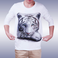 white tiger creative 3d t shirt design of custom printed garments OEM