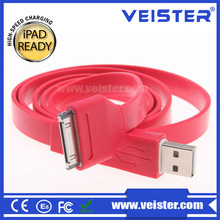 Wholesale flat Charger Cable with 30-Pin Connector for Apple iPhone 4 4S 4G 3G