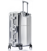 aluminum metal suitcase best trolly luggage suitcase