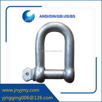 European type stainless steel D ring shackle