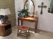 Factory direction provide wooden dressing table with chair