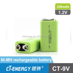 9v nick-metal hydride rechargeable battery /ni-mh 9v battery rechargable 1000 times for cordless phone