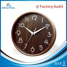 Antique high quality Wood Material handmade wooden wall clock