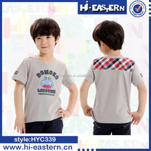 Newest fashion design fancy animal cartoon printing kid t shirt , children t shirt