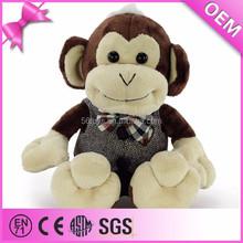 Custom stuffed animals plush monkey with clothes