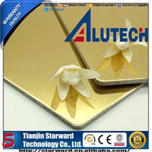 Anodized Mirror Finish ACP / ACM Panel , Best Sales Interior Wall Decorative Aluminium Composite Sheet