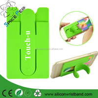 Mobile Phone Smartphone Touch C Type Silicone Stand Holder with Card Slot for iPhone for Samsung Wholesale