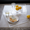 clear acrylic fast food cake serving tray drinking glass tray