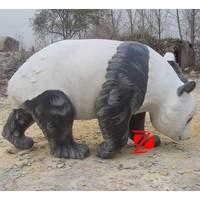 garden stone panda statue