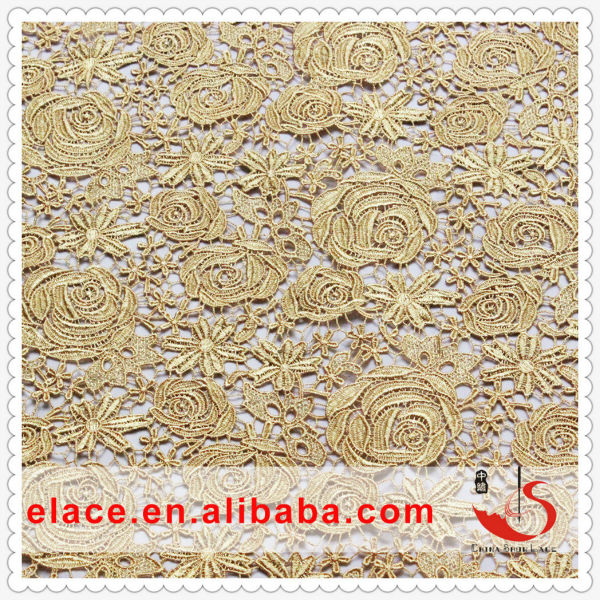 Champagne Gold Fabric Lace Fabric Champagne Gold