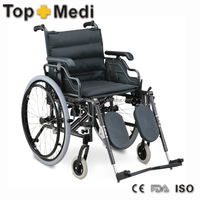 Rehabilitation Therapy Guangzhou Suppliers Aluminum Frame Manual Wheelchairs for Elderly People