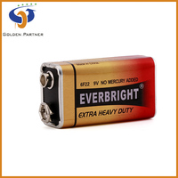 High working condition 9V 6f22 carbon zinc start power battery