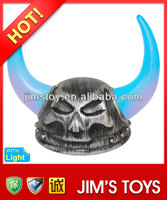 HOT Selling 2 colors LED lighting cheap plastic leather pirate hat wholesale