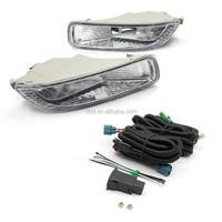 TIROL Fog Driving Light Lamp kit OEM Replacement for Toyota Corolla Pickup Truck Smoke Front Bumper Lamps Pair