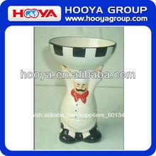 cocinero de cerámica estatuilla