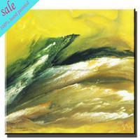 Colorful abstract handmade canvas,simple oil painting for wall decor
