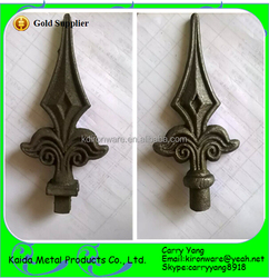 Hot Sale Wrought Iron Metal Picket Fence Finials