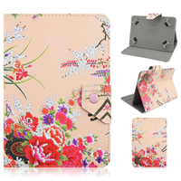 Flowers Background Pattern PU Leather Case for iPad Air
