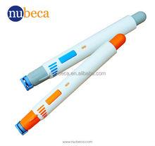 Safety blood lancet pen type blood lancing device