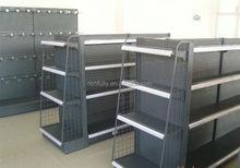 Portable metal wire shelf for store, wire mesh shelf, grocery store shelf