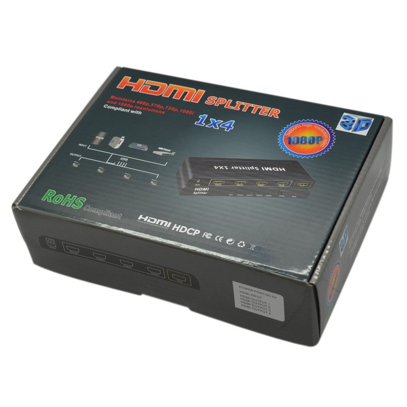 HDMI Icablelink hdmi splitter 1 in 4 out 4/HDMI 1/4 v1.3b 1080 P 1 x 4 HDMI 4 k HD TV Ps3 3D HDSP0020 hdmi splitter 1 in 4 out