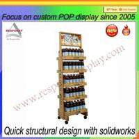 ECO Hot Sale Floor standing wooden honey display stands