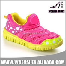 new factory cheap quality customized little girls colorful spring summer mesh sports shoes