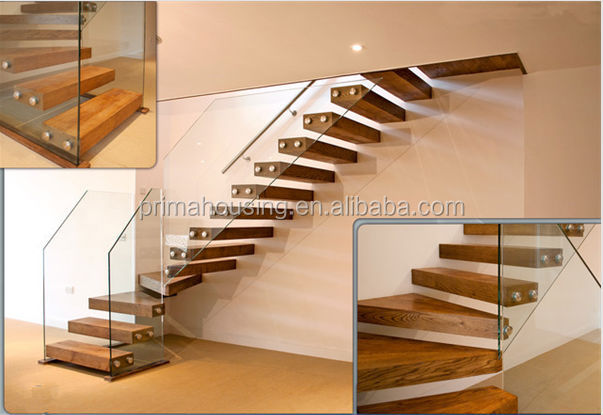 Straight wood stairs wall mounted stairs pr l1020 view for S l home design co ltd