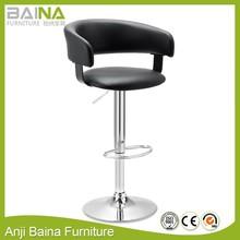 High swivel barhocker yellow leather bar stool