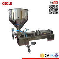 Portable sunflower and soybean oil filling machine/tomato paste automatic bottle filling machine with high quality