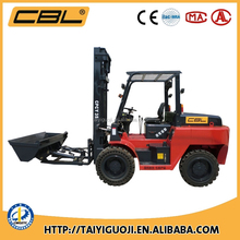 Creative Four Wheel-drive off-road forklift with optional attachments