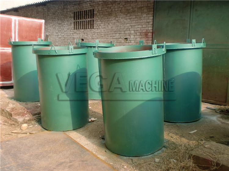 continuous charcoal carbonization furnace for coconut fiber