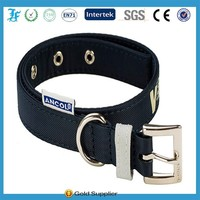 Hot sales Metal Engraved Personalized Webbing dog Collar factory nylon , 100% Pure Nylon