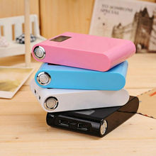 New arrival wallet style 10000 mah power bank with LED light
