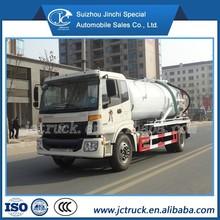 12CBM fossa séptica vácuo caminhão de sucção de esgoto de sucção de alta pressão caminhão para venda