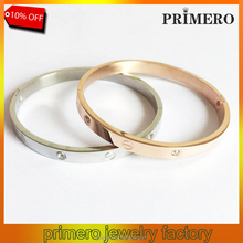 Fashion Jewelry Stainless steel Customized screw bangle with screwdriver